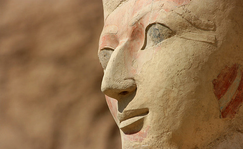 "iamthespacecadet:  laphamsquarterly:   ""It is not precise to call Hatshepsut a queen, despite the English understanding of the word; once she took the throne, Hatshepsut could only be called a king. In the ancient Egyptian language, the word queen only existed in relation to a man, as the ""king's woman."" Once crowned, Hatshepsut served no man.""  We've got a brand-new essay on the kick-ass, cross-dressing Egyptian ruler Hatshepsut. Just don't call her a queen.  Like the definition of HBIC Excuse me I am pharaoh and I will have the most bitchin rule with serious economic strides forward and basically I will be the best ruler ever"