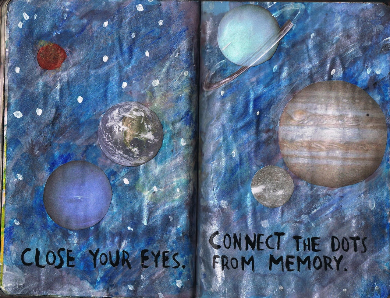 Close your eyes. Connect the dots from memory.