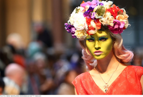 Vivienne Westwood paints faces green and gives Andy Warhol new life on the runway! See more pics here.