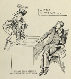 Wanted - A Typewriter. (May 1895) Source: Phonographic world and commercial school review; a magazine for stenographers and typewriter operators. / v. 9-10 (1893-1895)
