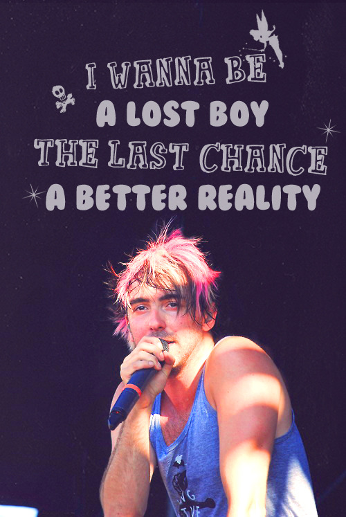Not only does it have Alex's warped tour hair, it also has lyrics to Somewhere In Neverland. Perfection.