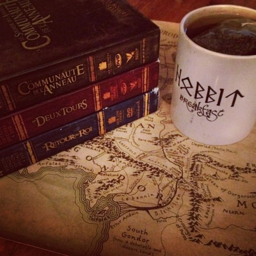thedeerandtheoak:  Tonight is LOTR Marathon night. (taken with Instagram)