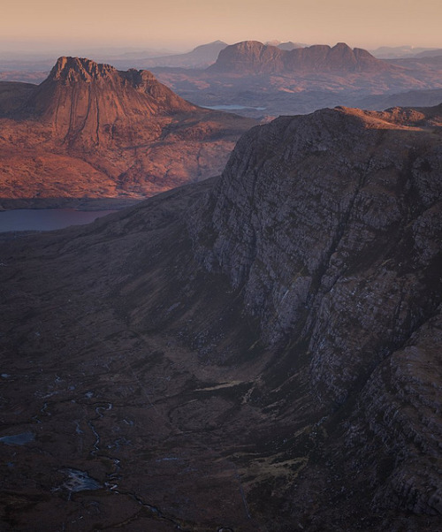 absolutescotland:  Dawn over Assynt, Sutherland by Billy Currie on Flickr.