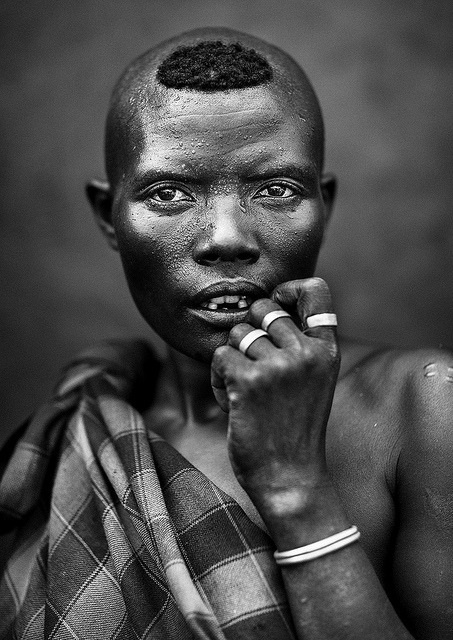 Bodi Tribe woman, Hana Mursi, Omo Valley, Ethiopia by Eric Lafforgue on Flickr.
