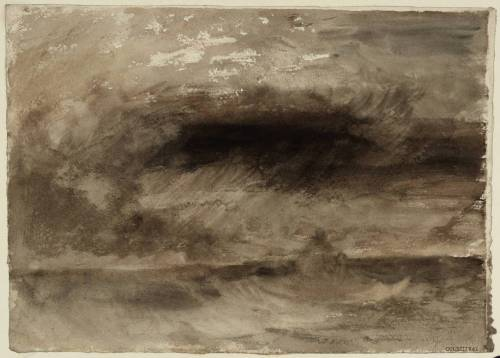 J. M. W. Turner, Storm at Sea, c. 1824