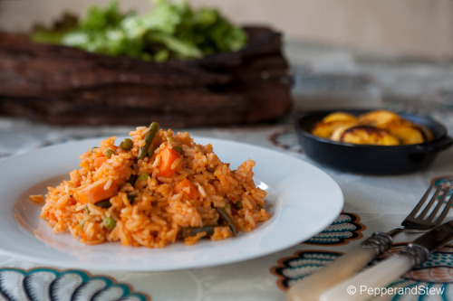 Jollof Rice Recipe: http://www.pepperandstew.co.uk/2011/09/14/jollof-sauce-jollof-rice/