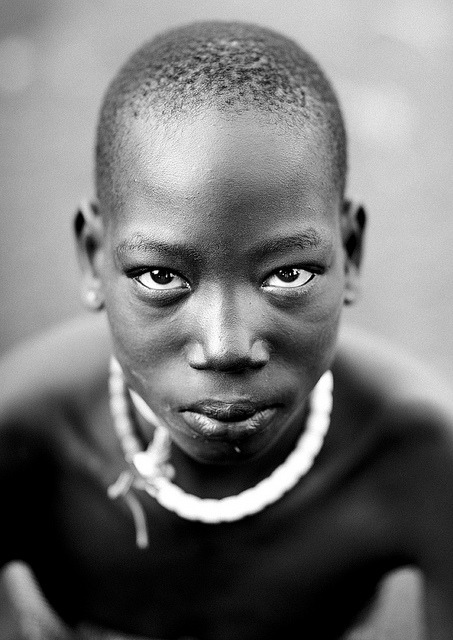 Portrait Of Teenage Bodi Boy, Hana Mursi,  Omo Valley Ethiopia by Eric Lafforgue on Flickr.