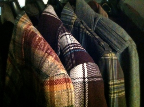 Caught a glimpse into my coat closet today. I'm looking forward to winter.