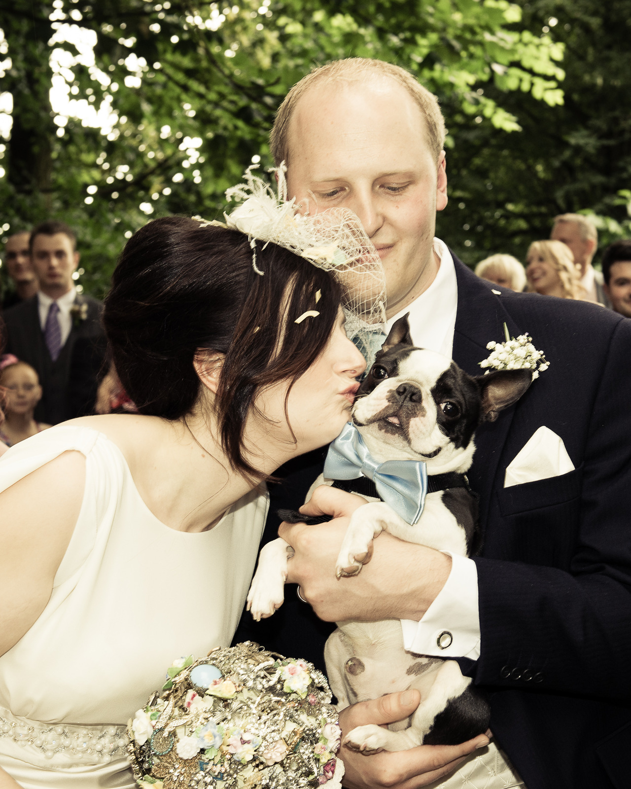 fuckyeahbostonterriers:  Lewis looking dapper on our Wedding Day!