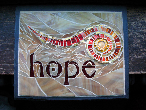 Hope Spiral in Mosaic by Nutmeg Designs by Nutmeg Designs on Flickr.