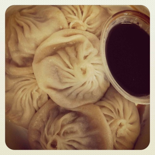 Just what I needed for this rainy NYC day. Joe's Shanghai soup Dumplings.