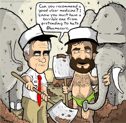 mittandrob:   .@mittromney Can you recommend a good ulcer medicine? I know you must have a terrible one from pretending to hate Obamacare. — rob delaney (@robdelaney) May 6, 2012