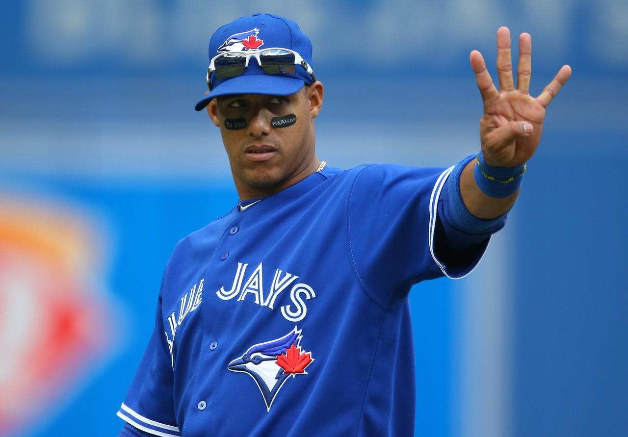 "newsnationalpostsports:  The Toronto Blue Jays suspended Yunel Escobar for three games on Tuesday after he wore eye-black tape inscribed with a homophobic slur during Saturday's game at the Rogers Centre. Escobar's lost pay will be donated to Gay and Lesbian Alliance Against Defamation, and he will undergo sensitivity training. ""I don't have anything against homosexuals. I have friends that are gay,"" Escobar said at a news conference through a translator. ""The person who decorates my house is gay, the person who cuts my hair is gay"""