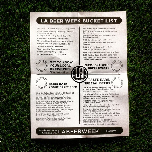 LA Beer Week Bucket List