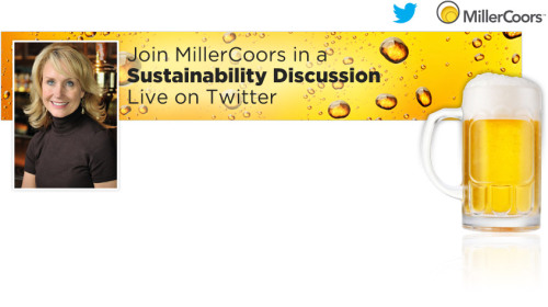 MillerCoors and Mother Nature Network are hosting a live Twitterview with MillerCoors Director of Sustainability Kim Marotta. Join us on Twitter @MillerCoors and @MotherNatureNet on Wednesday, September 19, at 2 p.m. EST. Just tweet your questions with hashtag #GreatThingsonTap and Kim will respond