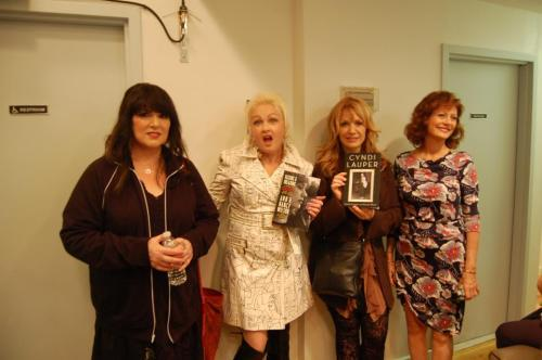 "Joy says: ""Very crowded green room today! Ann and Nancy Wilson from Heart, along w/ Cyndi Lauper and Susan Sarandon. Should be a fun show tonight, huh?"" Tune in to Joy at 6E/3P & 9E/6P today to see this powerhouse panel!"