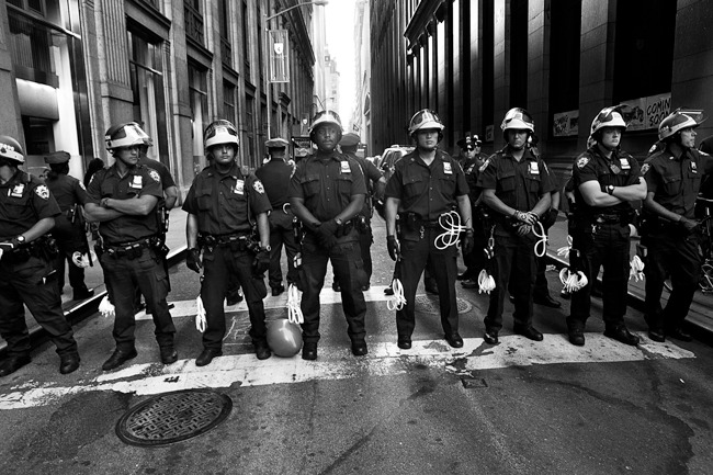 NYPD stands alert , Occupy Wall Street anniversary protest ,september 17