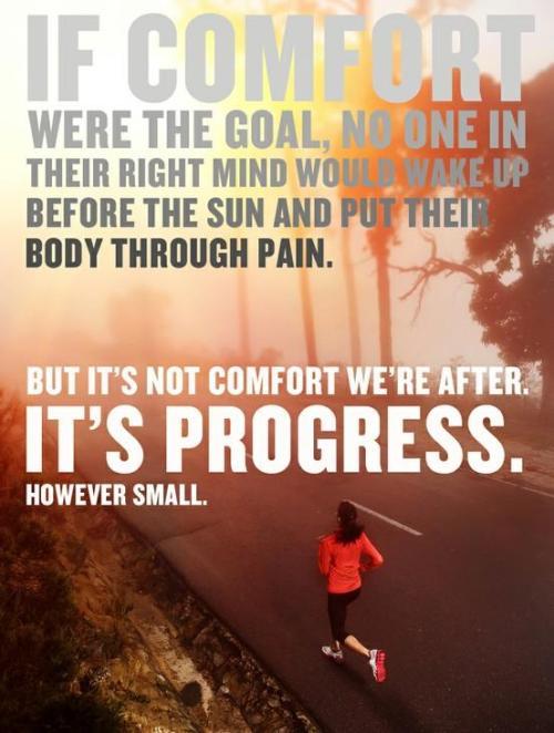 gettingahealthybody:  Because no pain, no gain.