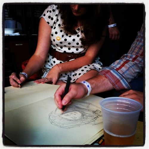 esd5years:  (via Photo by eatsleepdraw • Instagram)  Ashley and I Drawing