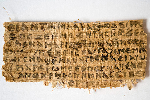 "infoneer-pulse:  Historian Says Piece of Papyrus Refers to Jesus' Wife  A historian of early Christianity at Harvard Divinity School has identified a scrap of papyrus that she says was written in Coptic in the fourth century and contains a phrase never seen in any piece of Scripture: ""Jesus said to them, 'My wife …' "" The faded papyrus fragment is smaller than a business card, with eight lines on one side, in black ink legible under a magnifying glass. Just below the line about Jesus having a wife, the papyrus includes a second provocative clause that purportedly says, ""she will be able to be my disciple."" The finding was made public in Rome on Tuesday at an international meeting of Coptic scholars by Karen L. King, a historian who has published several books about new Gospel discoveries and is the first woman to hold the nation's oldest endowed chair, the Hollis professor of divinity.  » via The New York Times (Subscription may be required for some content)"