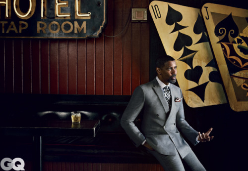 This month's GQ cover shoot of Denzel Washington was shot in the R Bar. Very cool!