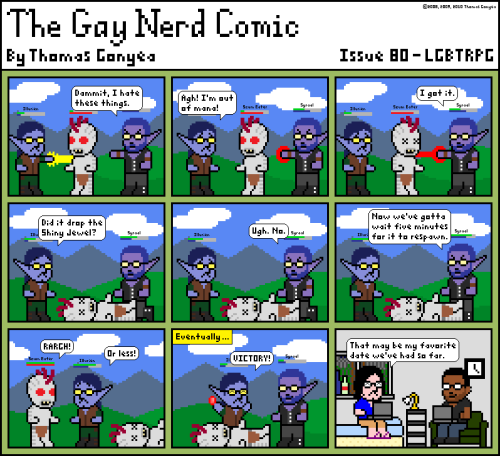 An old issue of my semi-autobiographical cartoon, The Gay Nerd Comic.