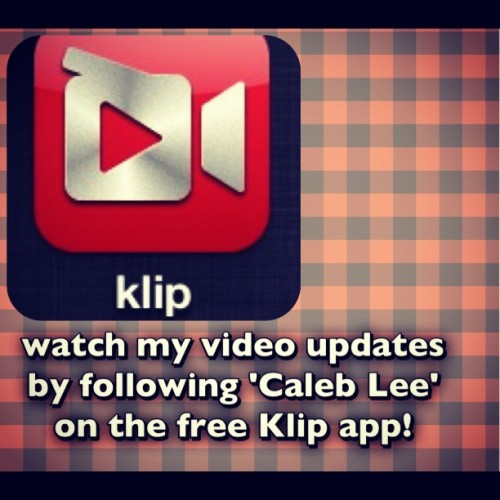 DO IT! I'm going to try and start using #Klip the most of all my social networks. ^.^ (Taken with Instagram)