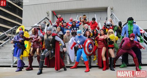 Stan Lee visited the Avengers Assemble Costume Gathering at Dragon*Con! Photo by Judy Stephens  (Source: marvel.com)