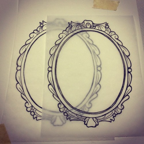 Oooo. Sketching some frames. Wait till you see where these are getting thrown on! #art #artist #draw #drawing #sketch #illustration #marker #linedrawing #frame #design #graphic #style #ink #stacystranzl #stacymariestudios  (Taken with Instagram at Stacy Marie Studios)