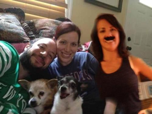 Now my sister-in-law updated our family portrait (previously).
