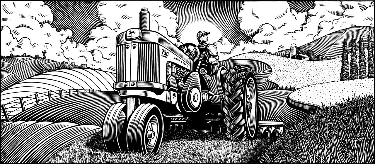 Illustration: John Deere mural