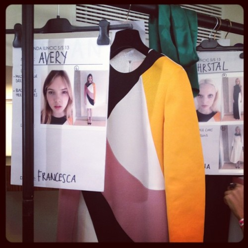 You guessed it! Backstage  with Roksanda Ilincic. #LFW (Taken with Instagram)