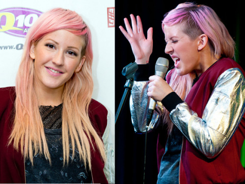 Hot Or Not? See What People Think of Ellie Goulding's Pink And Blonde Hair HERE