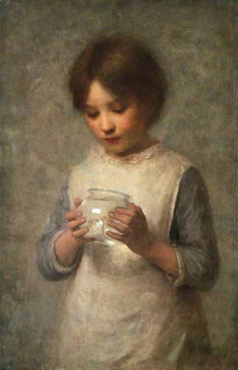 "William Robert Symonds ""Girl with a Silver Fish"""