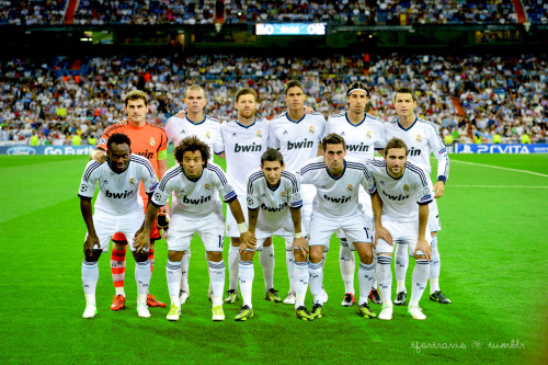 18/09/2012 Real Madrid vs Manchester City Starting XI