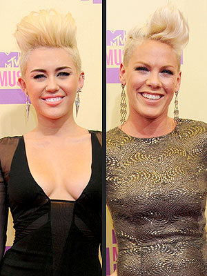 peoplemag: I am sooo not liking miley's new hair! PINK rocks it out!