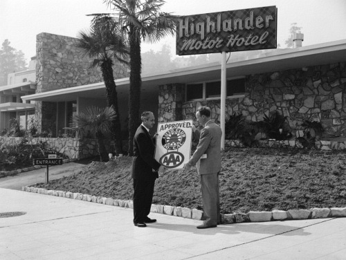 Highlander Motor Hotel - Hollywood - 1954