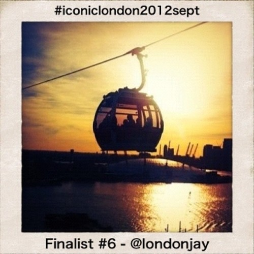 #iconiclondon2012sept - day 6 Blimey, you lot are amazing!! You've shared over 1,000 images for this month's Iconic London competition. Thank you so much if you've contributed already but there's still time if you haven't. The tube, buses and taxis have all been part of London's transport for over 100 years, but Londoners don't like to rest on their laurels and this year we saw a new addition to our transport system - a cable car (or the Emirates Air Line if you want it's formal title). @londonjay has captured it beautifully against the setting sun glinting off the millennium dome (or O2 if your prefer) and the Thames - making it out 6th finalist. Do go and check out @londonjay's feed. As always, keep using the hashtag #iconiclondon2012sept and we will look at them all again and highlight another one of our favourites soon. Don't forget that out of the 12 we highlight one of those will be chosen as our overall winner and will receive those two fabulous bamboo Boo Box 4 from the lovely folk at @hatchcraft (Taken with Instagram)