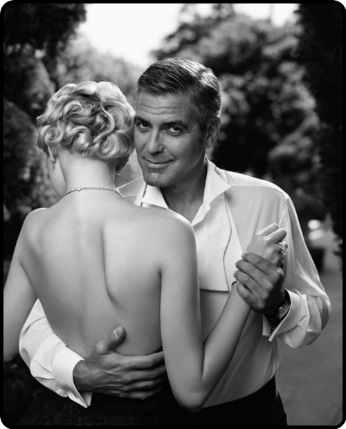 Gemma Ward and George Clooney