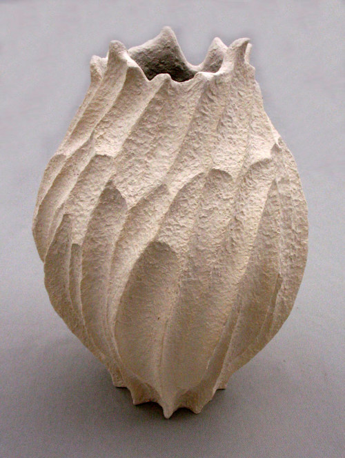 Elizabeth Shriver: Small Coral Pod Vase, 2011, Ceramic, 9 x 7 x 7 in.