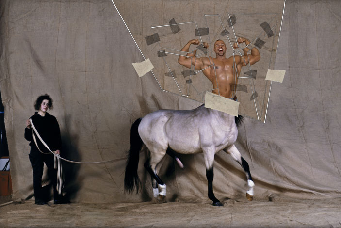 Thierry Mugler shot by Jean Paul Goude