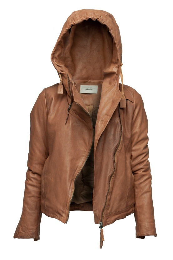 leather hoodie jacket.