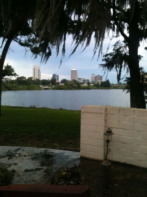 Interesting view of downtown Orlando. Still trying to figure out what lake this is…hmm