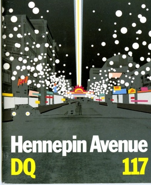"Vintage Makeover Ideas for a Downtown Thoroughfare:  ""Hennepin facelift a tough problem."" That 1970 headline from the Minneapolis Star still has relevance today, as a new vision takes shape to revitalize the city's legendary Hennepin Avenue—or more precisely, its two-mile segment downtown, running between the Mississippi River and the Walker Art Center/Minneapolis Sculpture Garden. Back in April, I wrote about Plan-It Hennepin, an initiative in which the Walker has partnered with Hennepin Theatre Trust, Artspace, and the City of Minneapolis; after a year gathering research and community input, the group's draft plan for a Hennepin Cultural District has just been released for further public comment. As a fixture on Hennepin from its earliest days, the Walker, not surprisingly, has historically had an interest in its vitality; what follows are outtakes from its coverage of some of those efforts in Design Quarterly, a magazine it published from 1954 to 1991.  (h/t mpls.tv)"