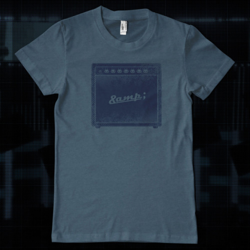 Amp Tee Designed by Kneadle, printed on American Apparel, and available for $24.