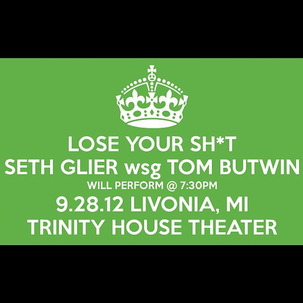 Lose it. Getting pumped for this! @ryanhommel @sethglier (twitter) #sethglier #tombutwin #michigan #live #music #mi #detroit  (Taken with Instagram)