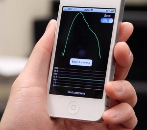 iPhone app could replace expensive lung monitoring equipment Todd Bishop, geekwire.com Is there any­thing a smart­phone app can't do? Researchers at the Uni­ver­si­ty of Wash­ing­ton, UW Med­i­cine and Seat­tle Chil­dren's hos­pi­tal have fig­ured out how to let peo­ple mea­sure their own lung health by breath­ing in the direc­tion …