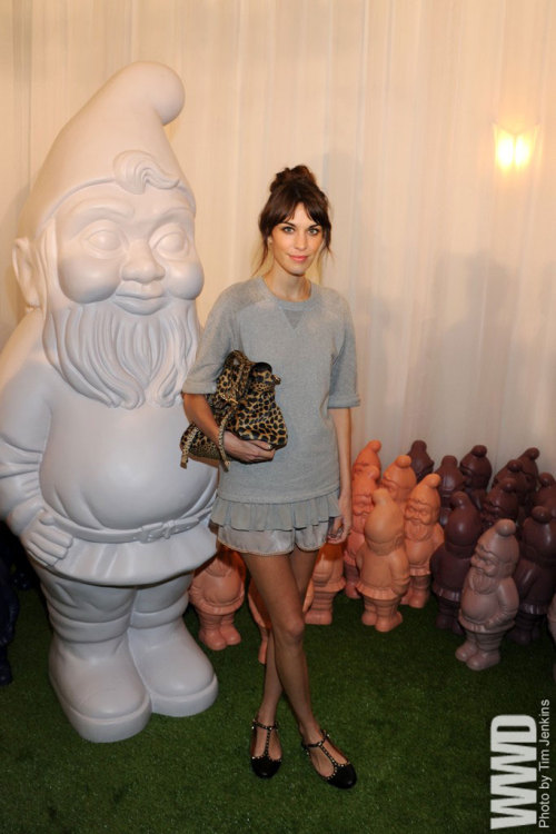 Alexa Chung Front Row at Mulberry