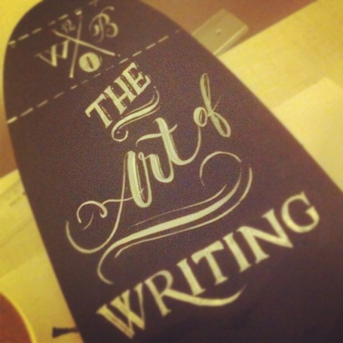 The art of writing #calligraphy #brush #skate #board #berlin (Taken with Instagram)
