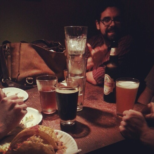 Beers and tacos with comedy bros (Taken with Instagram)